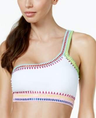 Bar III Be Weave It One-Shoulder Bikini Top, Created for Macy's