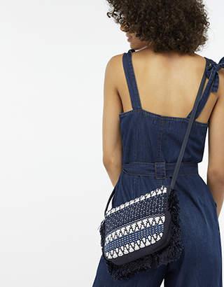 Monsoon Tori Textile Cross Body Bag