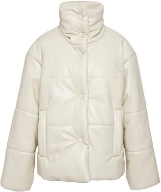 1860291112 Nanushka Hide Vegan Leather Puffer Coat