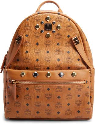 MCM Dual Stark Backpack Visetos Medium Cognac