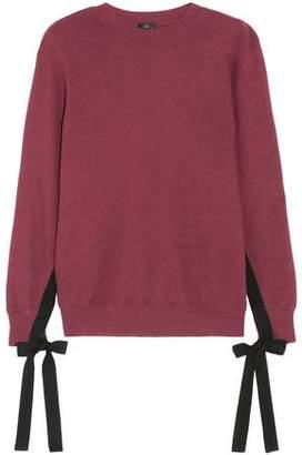 Clu Bow-Detailed Cotton-Jersey Sweatshirt