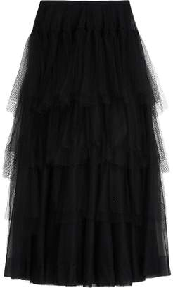 Burberry Tiered Open-net Tulle Skirt