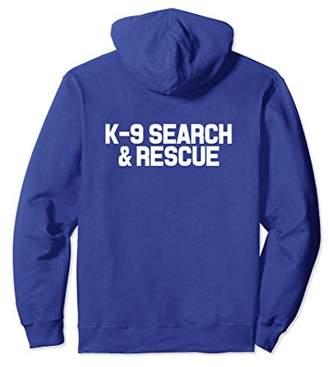 K9 Thin Orange Line Search & Rescue SAR K-9 Team Hoodie