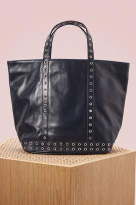 Medium + Leather and Eyelets Tote Bag in Craie Cowhide Leather Vanessa Bruno zIMgni