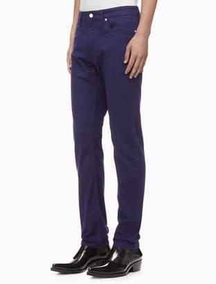 Calvin Klein slim fit stretch twill 5-pocket pants