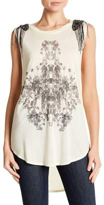 Haute Hippie Embellished Rose Tank Top