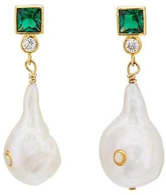 ANNI LU Women's Bling Drop Earrings - Gold
