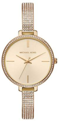 Michael Kors Jaryn Pave Bangle Watch, 36mm