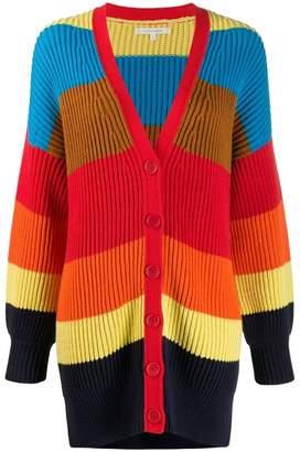 Parker Chinti & striped knit cardigan