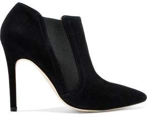 Halston Suede Ankle Boots