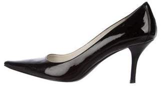 Calvin Klein Patent Leather Pointed-Toe Pumps