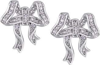 Laura Ashley Jewelry Sterling 1/10 cttw Bow Earrings