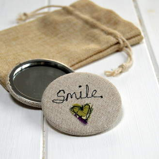 Handmade at Poshyarns Smile Handbag Mirror