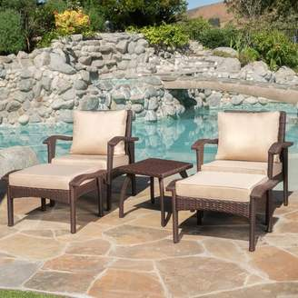 Alcott Hill Springboro 5 Piece Conversation Set with Cushions Frame