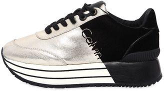 40mm Carlita Metallic Canvas Sneakers $157 thestylecure.com