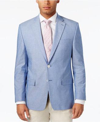 Lauren Ralph Lauren Men's Classic-Fit Light Blue Chambray UltraFlex Sport Coat $295 thestylecure.com