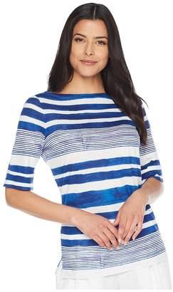 Lauren Ralph Lauren Striped Boat Neck Top Women's Clothing
