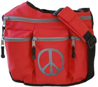 Diaper Dude Peace Diaper Bag (Red)