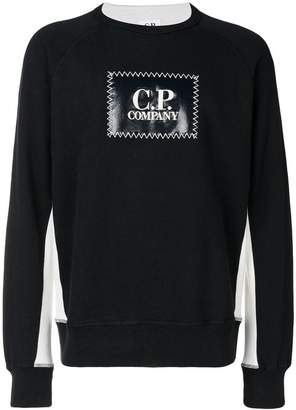 C.P. Company logo patch sweatshirt