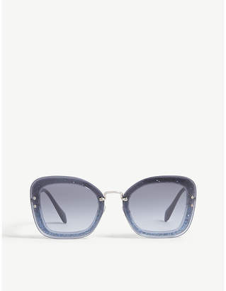 9cad283dd70b Miu Miu Blue Women s Sunglasses - ShopStyle