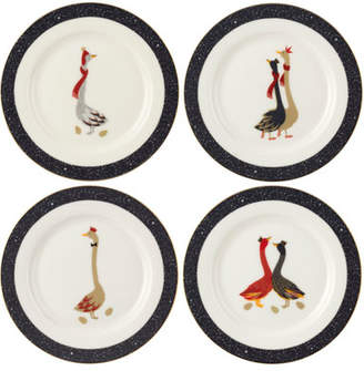 Spode Assorted Geese Dessert Plates, Set of 4