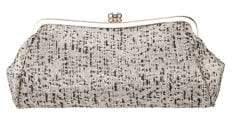 Nina Nika Metallic Tweed Frame Clutch