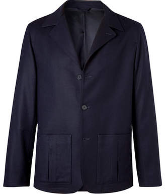 Camoshita Navy Unstructured Wool Blazer