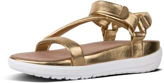 FitFlop Loosh Luxe Z-Strap Metallic Leather Sandals
