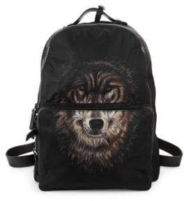 Valentino Wolf-Print Backpack