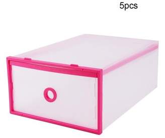 Qiilu Portable Shoe Storage Boxes, Durable Storage Bin Case, Shoe Cubes Container, Household Translucent Plastic Lightweight Shoe Drawer Organiser, Ideal for Small Kit, Magazines, Books, Shoes for men/women