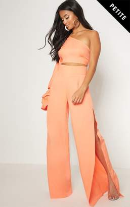 PrettyLittleThing Petite Coral Wide Leg Trousers
