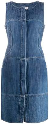 Chanel PRE-OWNED denim pinafore dress