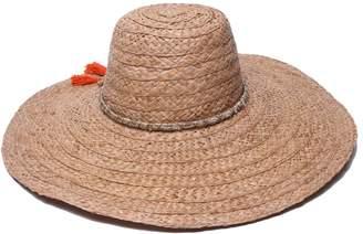 Ale By Alessandra 'Ale By Alessandra 'ale by alessandra Women's Palapa Large Brim Raffia Floppy Hat with Metallic Sari Trim
