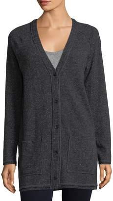 Three Dots Women's Wool Blend Longline Cardigan