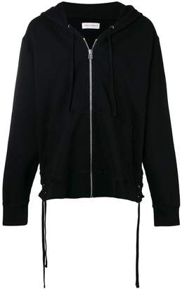 Faith Connexion lace up side zipped hoodie