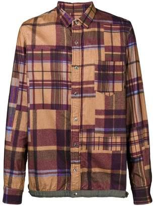 Sacai checkered print shirt