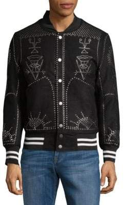 Studded Bomber Jacket