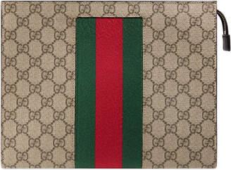 Gucci GG Supreme Web pouch