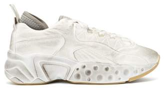 Acne Studios Rockaway Tumbled Leather Trainers - Mens - White