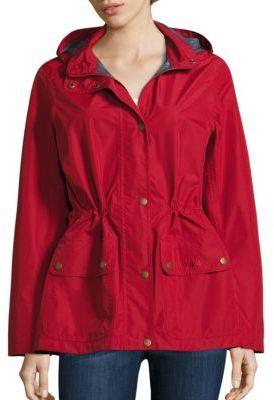 Barbour Cirruss Short Rain Jacket $249 thestylecure.com