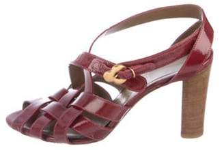 Salvatore Ferragamo Patent Leather Strap Sandals Patent Leather Strap Sandals