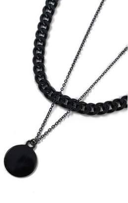 Topman Mens Navy Dark Blue Multi Necklace*