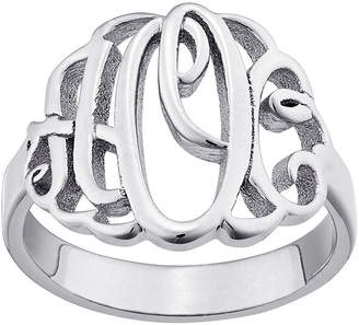 FINE JEWELRY Personalized Script Style Thick Monogram Ring