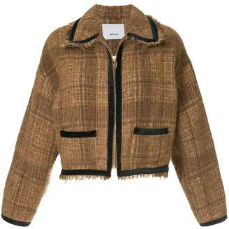 08sircus frayed cropped tweed jacket