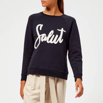 Whistles Women's Salut Embroidered Sweatshirt