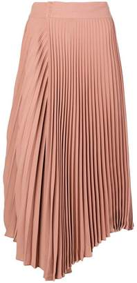 Vince wrap front pleated skirt