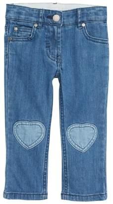 Stella McCartney Heart Patch Straight Leg Jeans