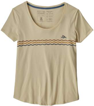 Patagonia Women's Flying Fish Line Up Organic Cotton Scoop T-Shirt