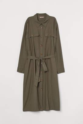 H&M H&M+ Twill Shirt Dress - Green