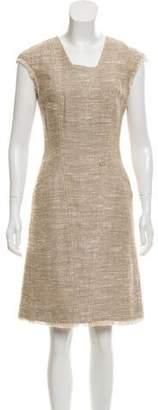 Chanel Fringe-Trimmed Tweed Dress